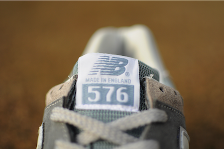 576のシュータン部分「Made in England」の文字が。