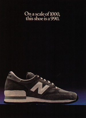 On a scale of 1000, this shoe is a 990.