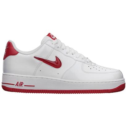 ナイキ・エアフォース 1 ロー・ジュエル・ホワイト・パテント ユニバーシティ・レッド(Nike Air Force 1 Low Jewel White Patent University Red)