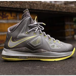 Nike Lebron X canary yellow diamond