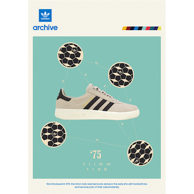 adidas Originals Trimm-Trab size? UK exclusive 'Bliss/Night Burgundy' (2013)