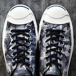 コンバース・ジャックパーセル・ブラック・ホワイト・カモ・2013 秋冬モデル(Converse Jack Purcell Black + White Camo 2013 Fall/Winter)