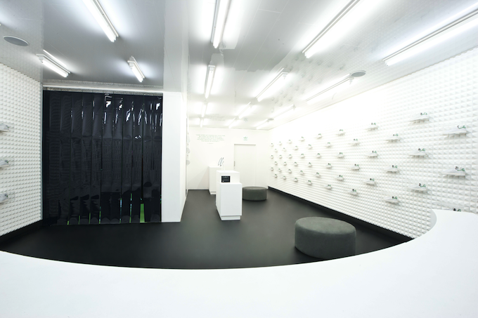 Stan Smith giant shoe box pop-up store