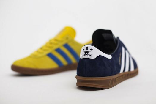 アディダス・オリジナルス・ハンブルグ・ネイビー/ホワイト イエロー/ブルーバード (adidas Originals Hamburg Navy/White Yellow/Bluebird)