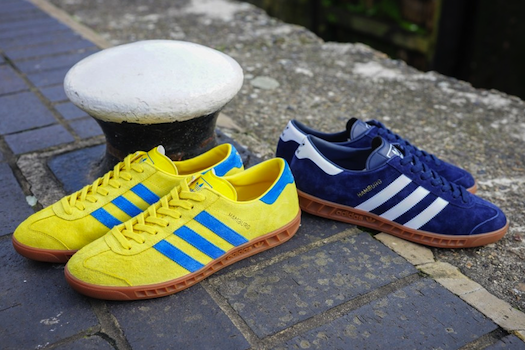 (adidas Originals Hamburg Navy/White Yellow/Bluebird)