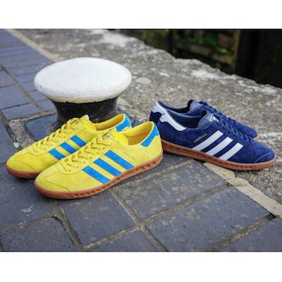adidas Originals Hamburg Navy/White Yellow/Bluebird