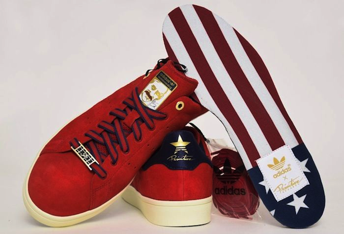 adidas Stan Smith Vulc Primitive (Rouge)