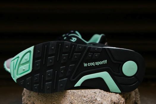 ルコック・スポルティフ R1000 ブラック/アイスグリーン(Le Coq Sportif R1000 Black/Ice Green)