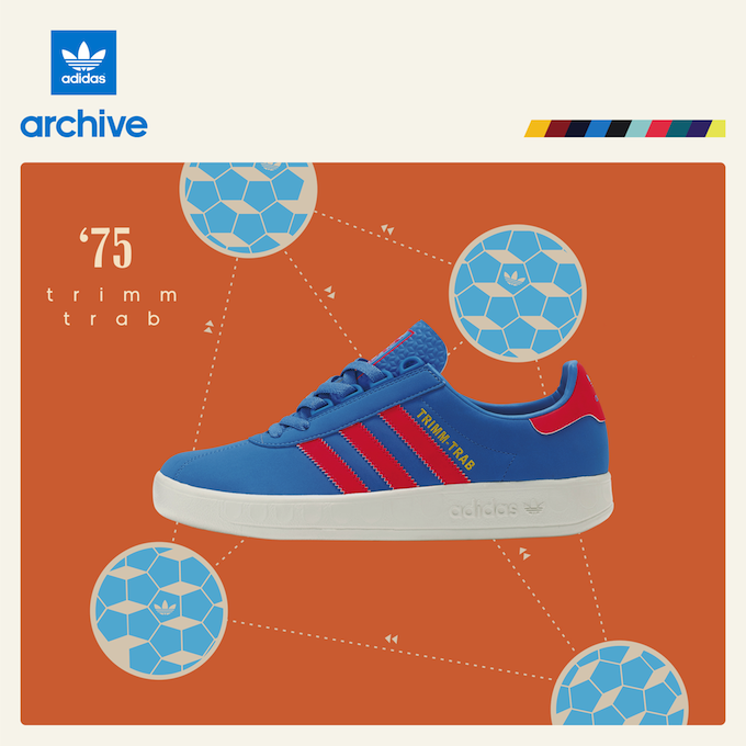 "adidas Originals Trimm Trab ""Light Blue/Red"" size? Exclusive (2014)"
