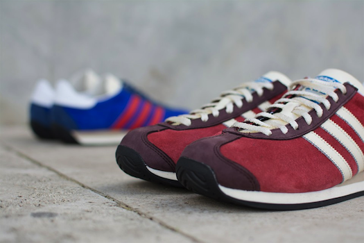 adidas Originals Country OG suede Bold Blue, Rust Red
