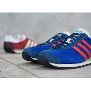 adidas Originals Country OG suede Bold Blue, Rust Red