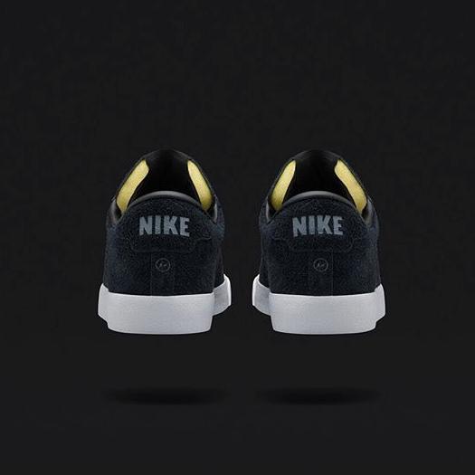 fragment design x NikeLab Tennis Classic black suede
