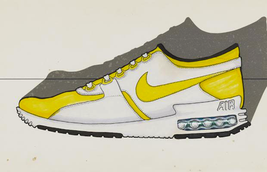 Tinker Hatfield's original sketch of the Air Max Zero