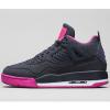 """ナイキ・ガールズ・エアジョーダン 4 レトロ """"ダーク・オブシディアン/ビビッド・ピンク""""(Nike Girls' Air Jordan 4 Retro """"dark Obsidian/Vivid pink"""")"""