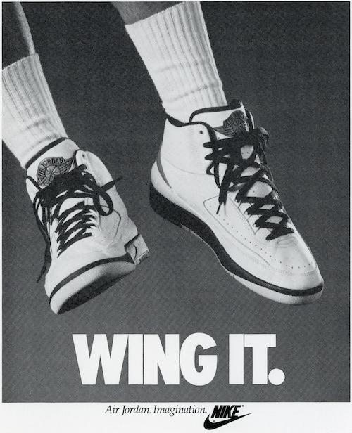 AIR JORDAN 2 print ad 1986