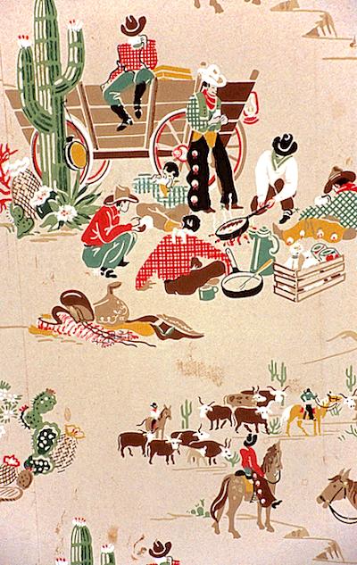 vintage 1950 cowboy wallpaper