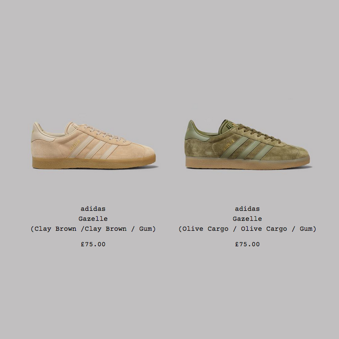 adidas Gazelle Olive Cargo / Clay Brown