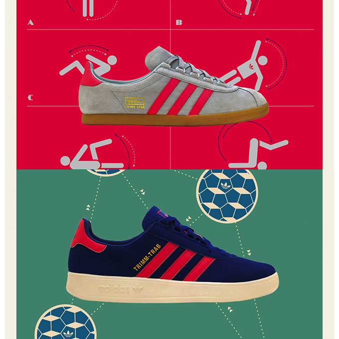 adidas Originals Trimm Star & Trimm-Trab size? UK exclusive (2013)