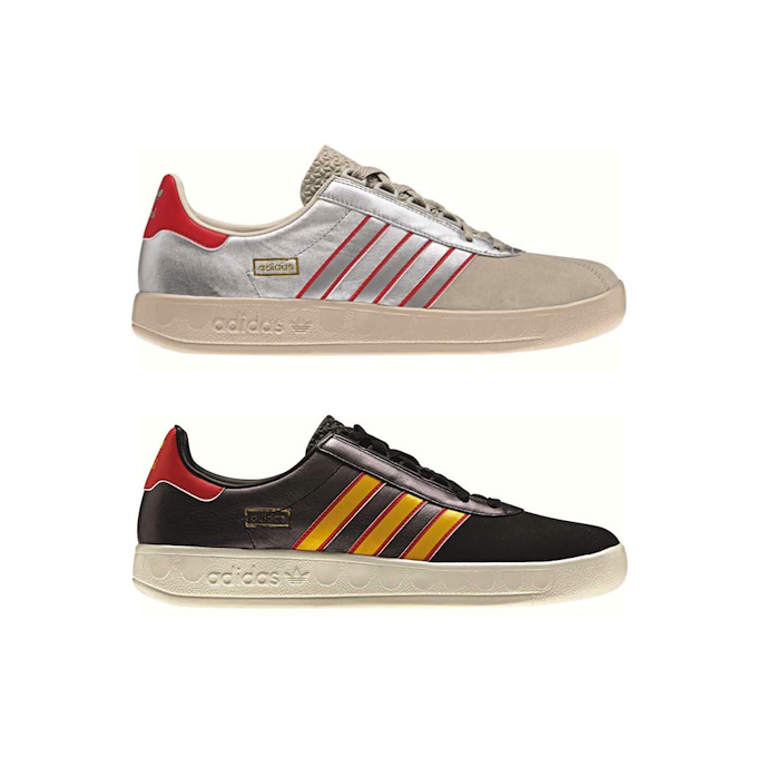 Adidas Trimm Trab [Metallic Silver/Red][Black/Sunshine/Red] (2013)